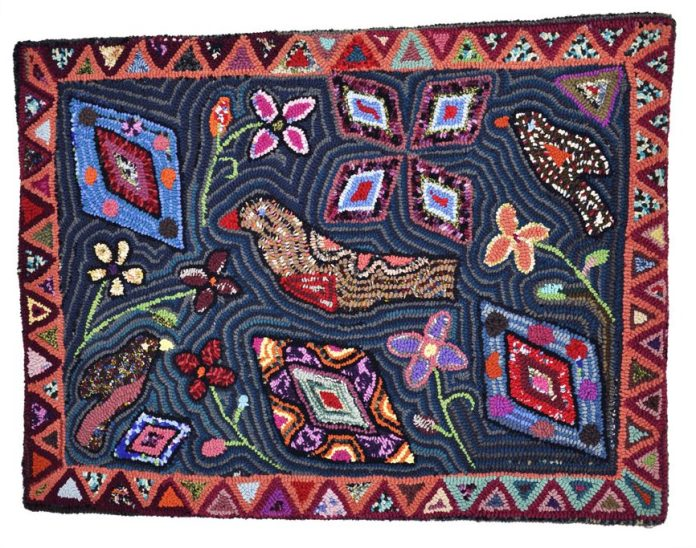Multicolores Hooked Rug