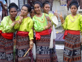 The young women of Ledalero in Flores, Indonesia charm it up.