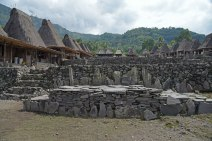 Another view of the traditional village of Gurusina with megalithic altars.