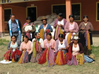 Group photo after taking a natural dye workshop from Don Jorge.
