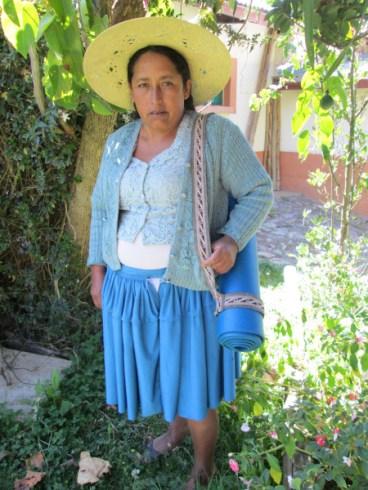 Doña Máxima models a yoga mat strap.