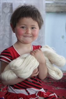 Kid mohair yarn awaits you.