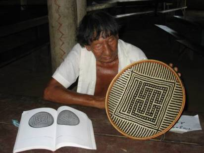 Images from the traditional men's baskets portray mythical images from the Ye'kwana legends.