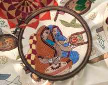 Detail of contemporary kantha textile. Photo courtesy of Kantha Productions LLC and Anil Advani, photographer; kanthathreads.com
