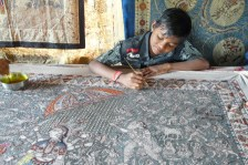 The next generation of kalamkari painter in India.