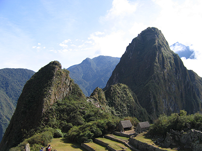 Machu Picchu high in the Andes.