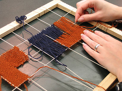 Trying out weaving with scaffold.