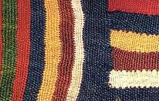 Detail of scaffold plain weave.
