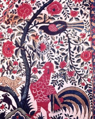 Handpainted Tree of Life design from India. From Handmade in India; Ranjan and Ranjan, eds.
