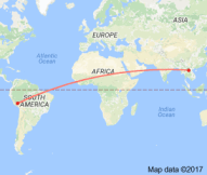 From Luang Prabang, Laos, to Cusco, Peru, is almost halfway around the world.