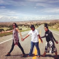 Ock Pop Tok artisans on the road in New Mexico and ready for Tinkuy. Photo credit Ock Pop Tok.