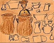 Maya children's art from the 1960s.