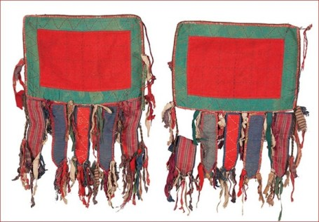 Yomut camel knee trappings; Turkmenistan c. 1950; International Quilt Study Center & Museum.
