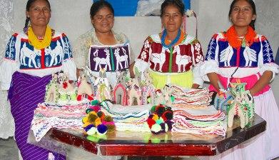 The textile makers of San Pablo Tijaltepec, Mixtec region, Oaxaca. Photo courtesy Ana Paula Fuentes.