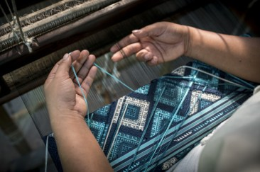 Ock Pop Tok supplementary brocade silk weaving
