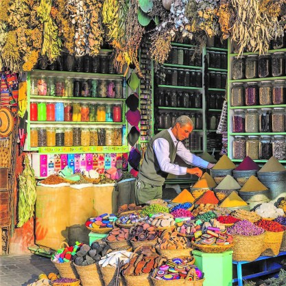 Souk merchant in Marrakesh.