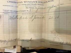 Women's Christian Exchange in New Orleans advertised and took orders for the Avery sisters.