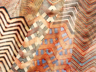 Turban Cloth (detail), tie-dyed cotton, Rajasthan, prob. Jaipur, ca. 1855, © Victoria and Albert Museum, London