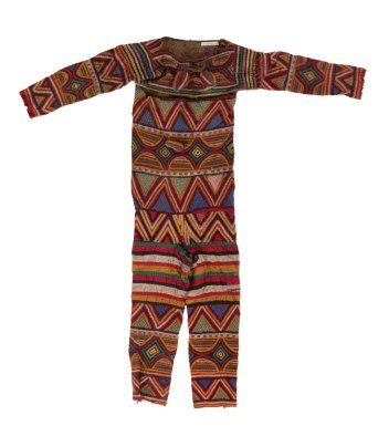 Maiden spirit masquerade costume made by the Igbo people circa 1950-1970 in Nigeria. IQSCM 2018.045.0009.