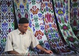 Merchant at the bazaar of Margilan, Uzbekistan; 2011. Photo credit Sylvie Jadeau.