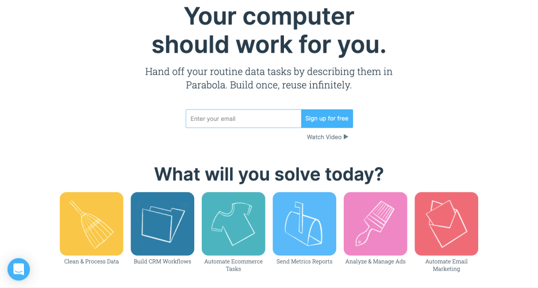 parabola no code automation tool