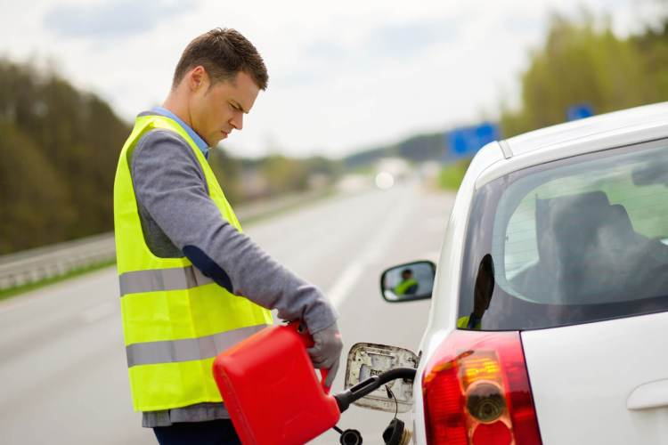 Image result for stuck on highway no gas
