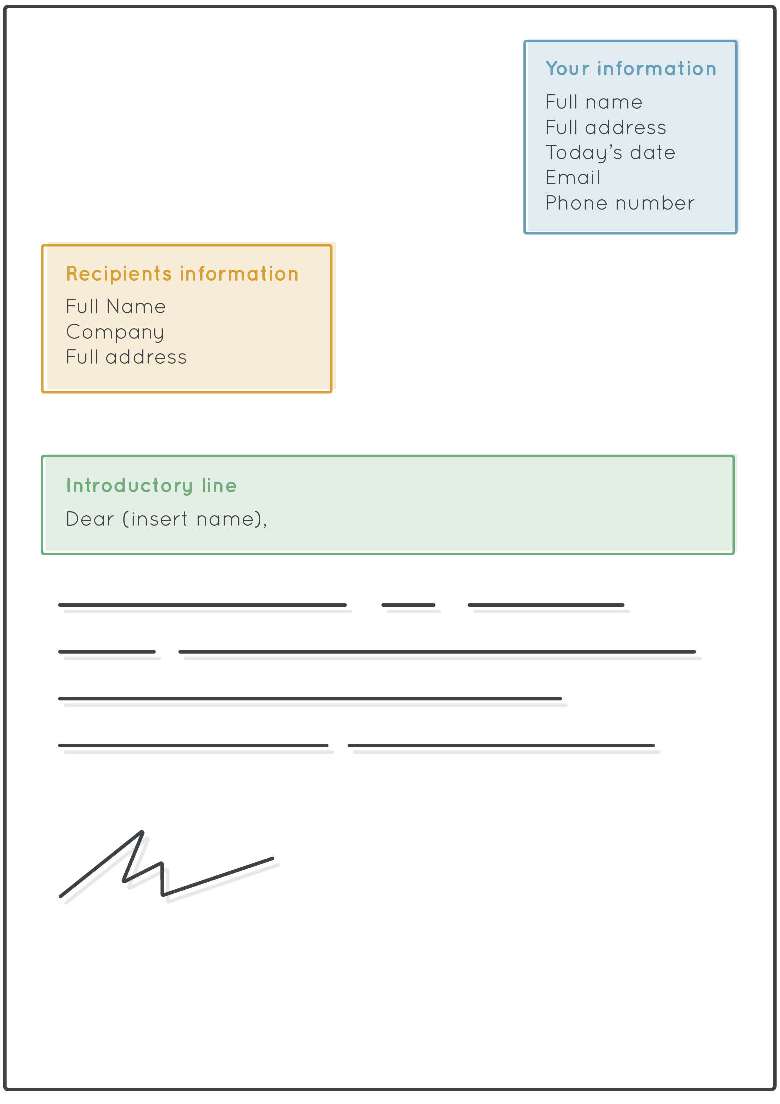 How To Write A Formal Letter Format Template Uk Postbox