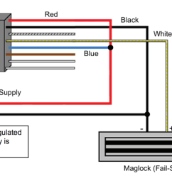 wiring an electromagnetic lock [ 1322 x 662 Pixel ]