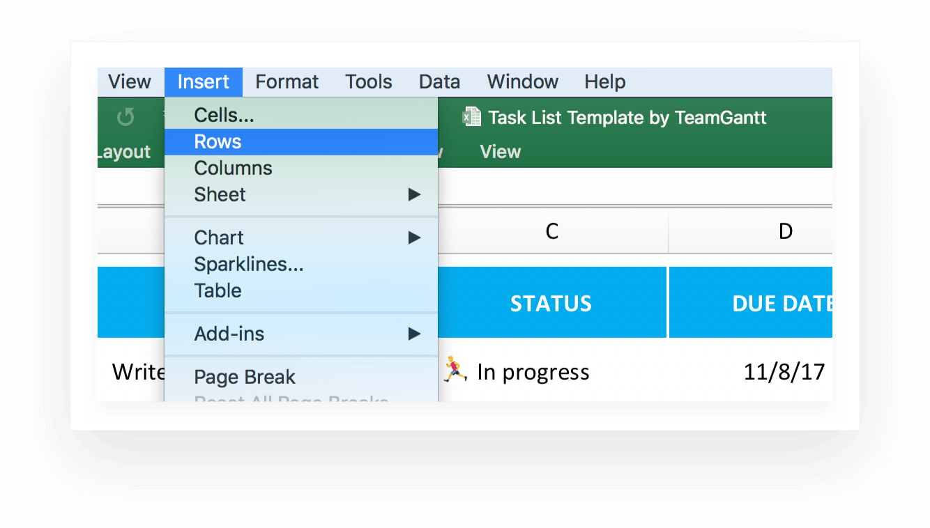 This accessible task tracking template has a customizable list of tasks along with each tasks' start and due dates, percentage complete, and notes. Free Task And To Do List Template In Excel Teamgantt