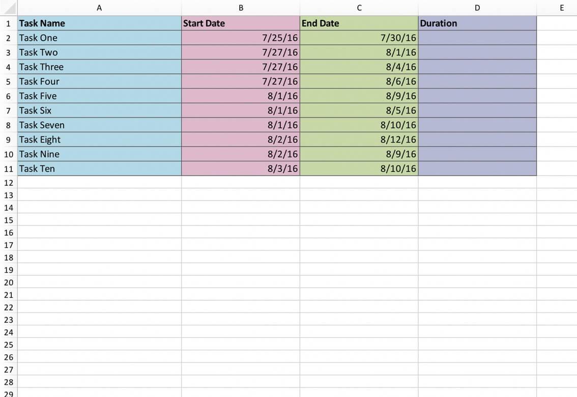 Free Gantt Chart Template For Excel Download Teamgantt