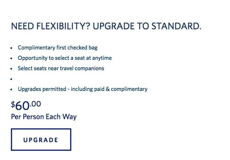 example of upgrade options.