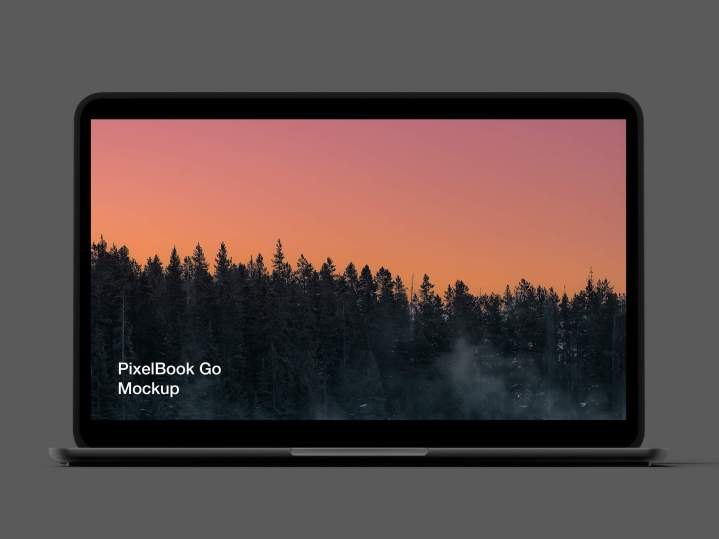 Google PixelBook Go Mockup