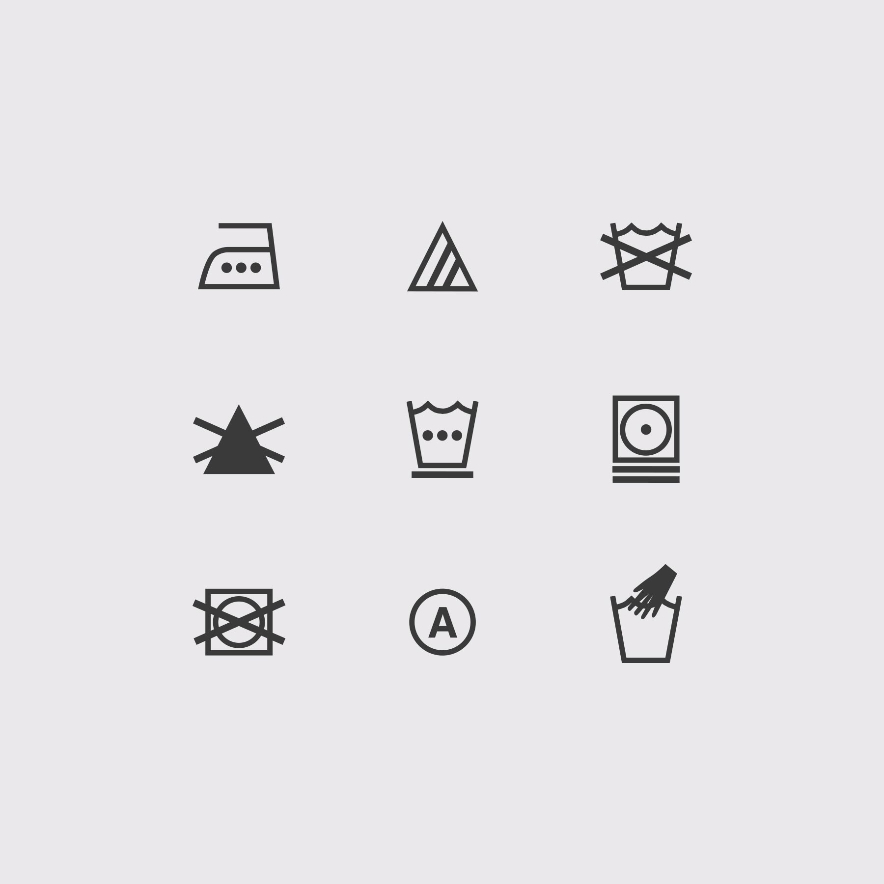 T-Shirt Tag Care Icons