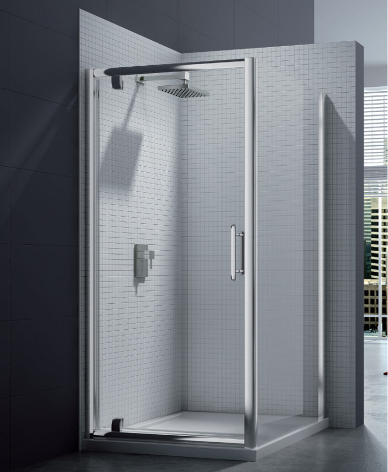 Merlyn 6 Series 8mm Clear Glass Pivot Shower Door 760800mm