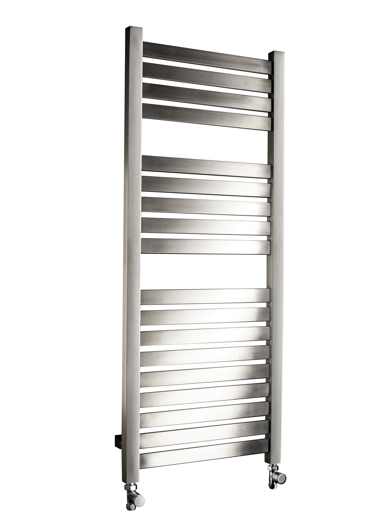 DQ Heating Alisi 500mm Wide Brushed Stainless Steel Heated