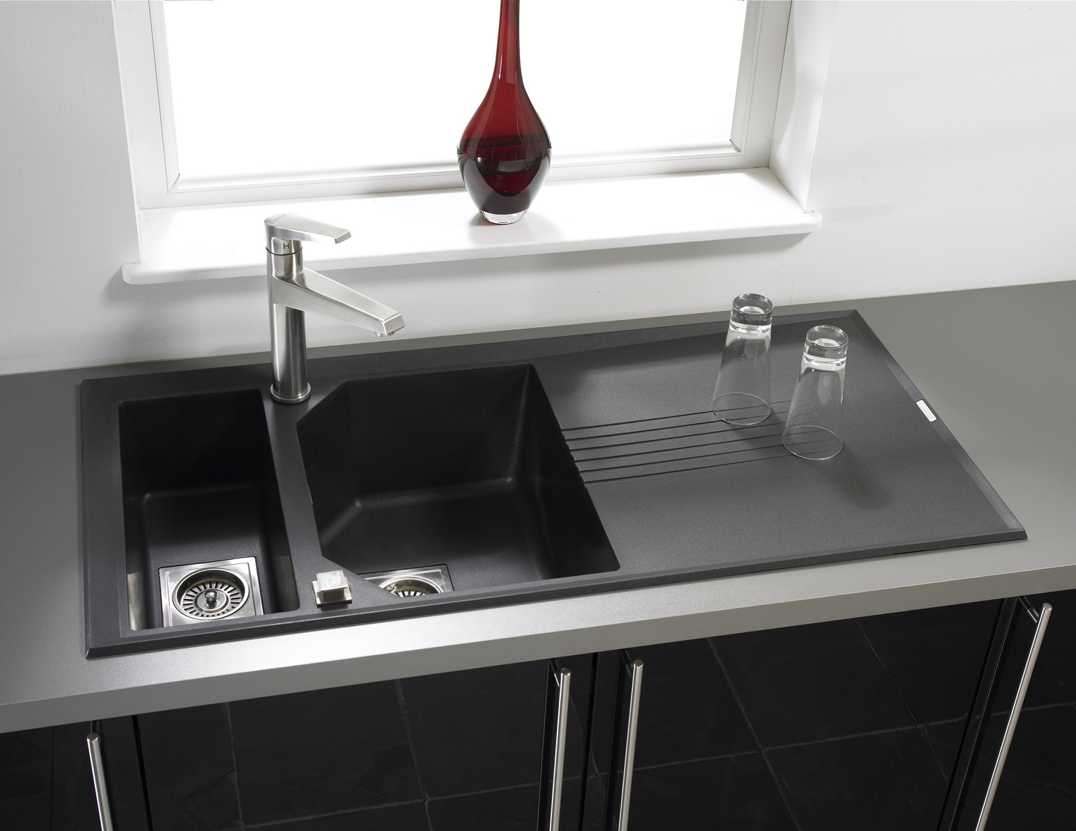 Astracast Helix 15 Bowl Composite ROK Metallic Inset Sink  LO15RZHOMESK