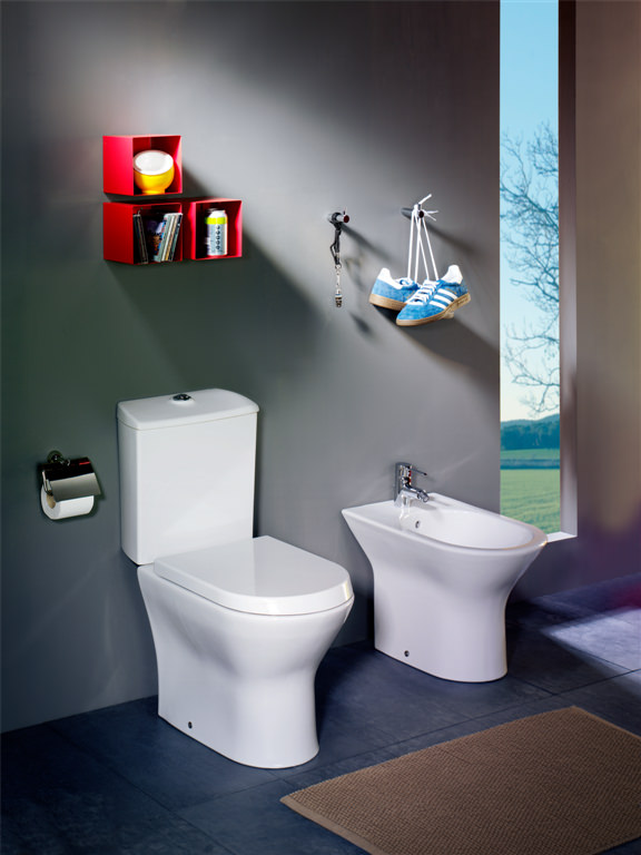 Roca Nexo Compact Close Coupled WC Pan With Cistern 615mm