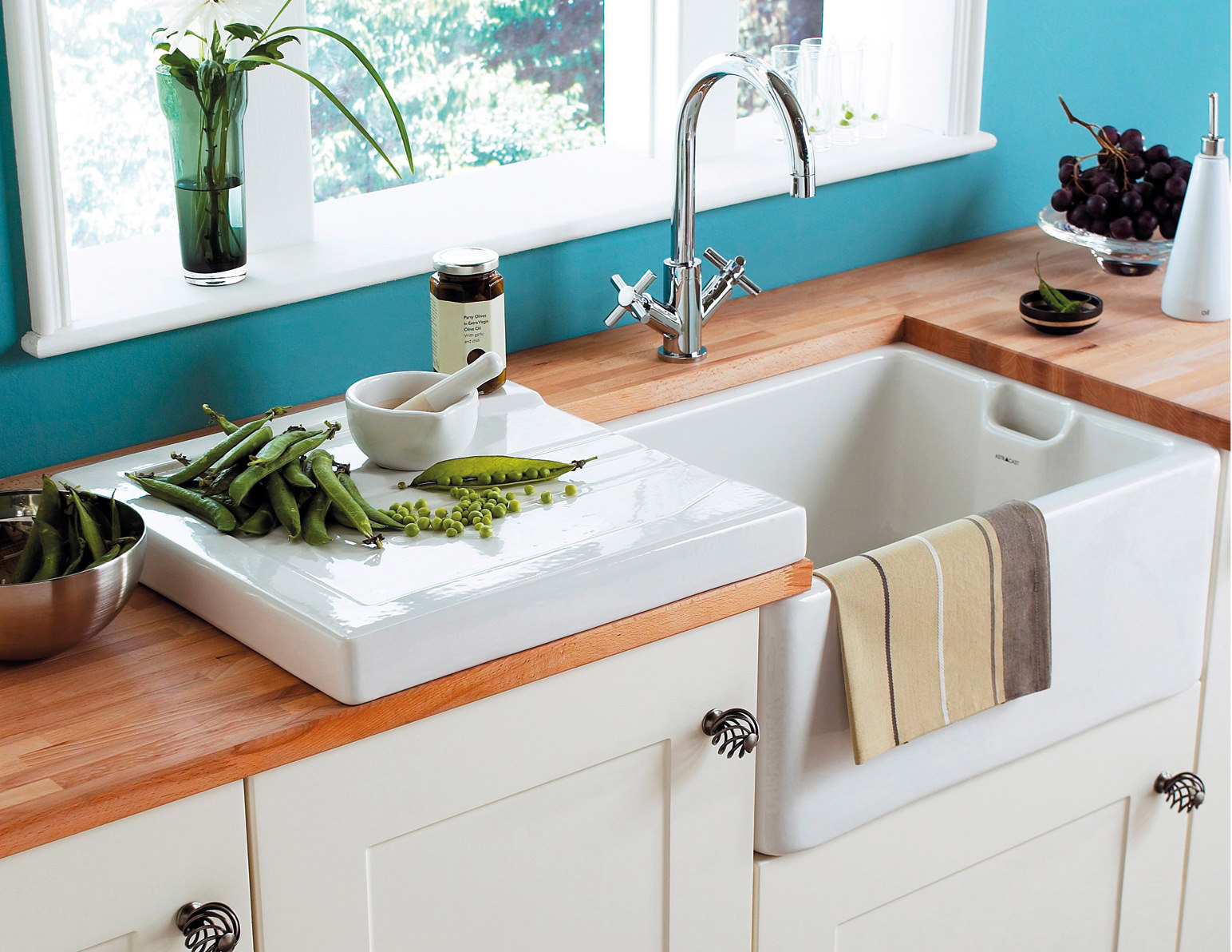 fireclay kitchen sink espresso cabinets astracast belfast 1.0 bowl ceramic gloss white sit-in ...
