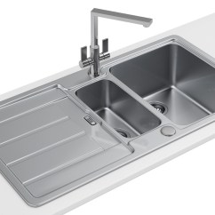 Franco Kitchen Sinks Apartment Size Table Franke Hydros Hdx 654 Stainless Steel 1 5 Bowl