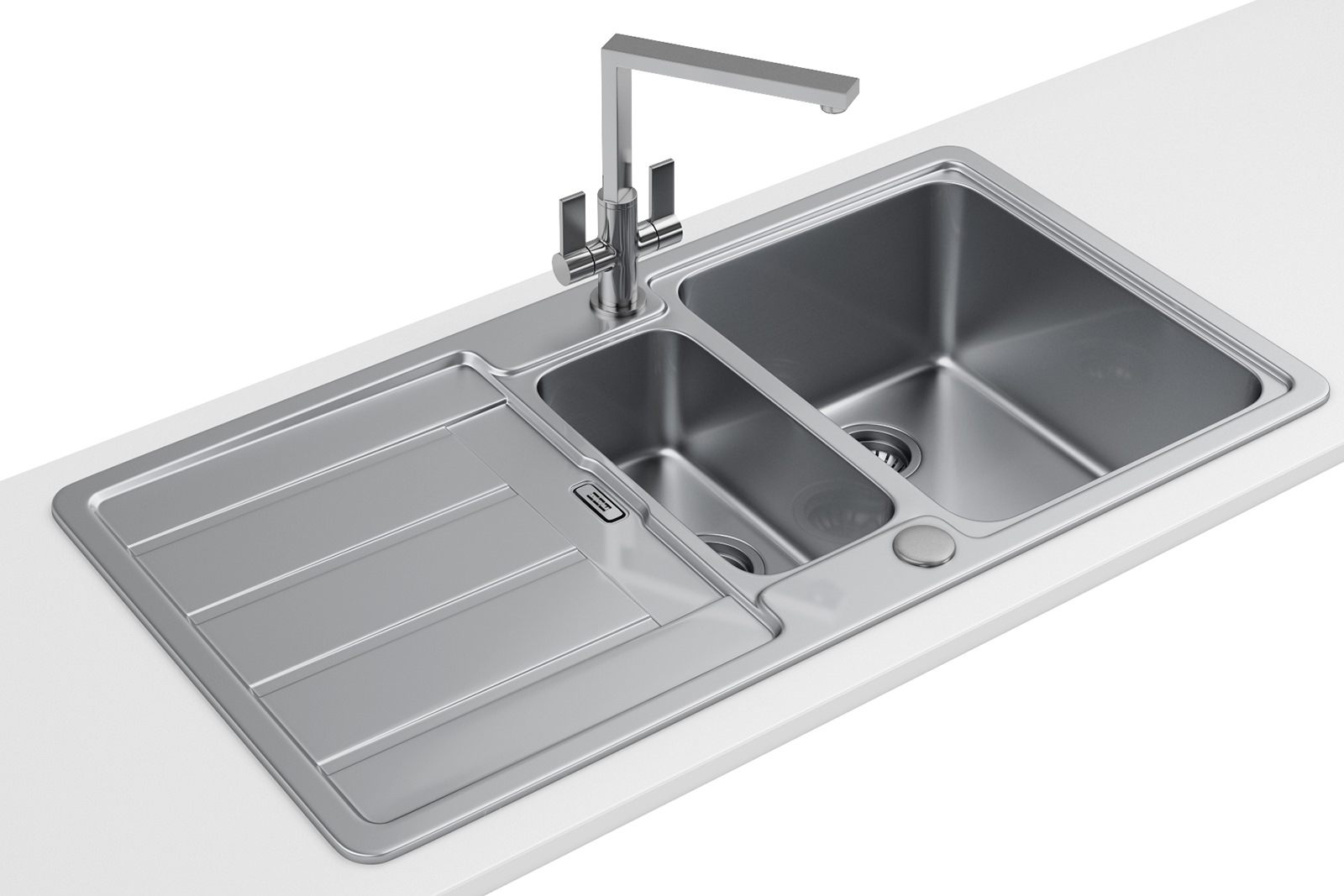 franke kitchen sinks buy metal cabinets hydros hdx 654 stainless steel 1.5 bowl ...