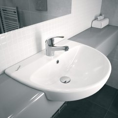 Large Sink Kitchen Design Stores Twyford E100 Round 550 X 440mm 1 Tap Hole Semi-recessed ...