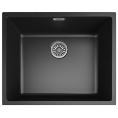 Single Bowl Kitchen Sinks Personalized Towels Franke Sirius Sid 110 50 Tectonite Carbon Black 1.0 ...