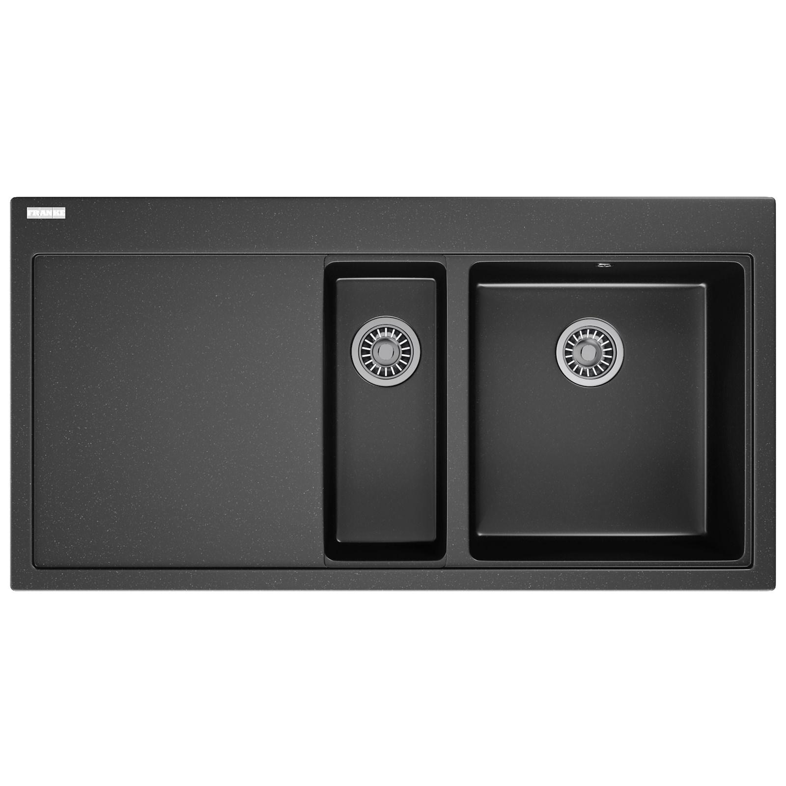 franke kitchen sinks types of flooring for mythos mtg 651-100 fragranite onyx 1.5 bowl inset ...