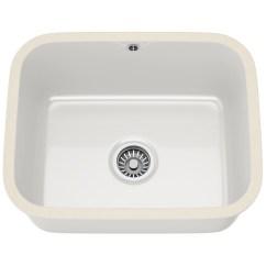 White Kitchen Sink Undermount Delta Pull Out Faucet Franke V And B Vbk 110 50 Ceramic 1 Bowl