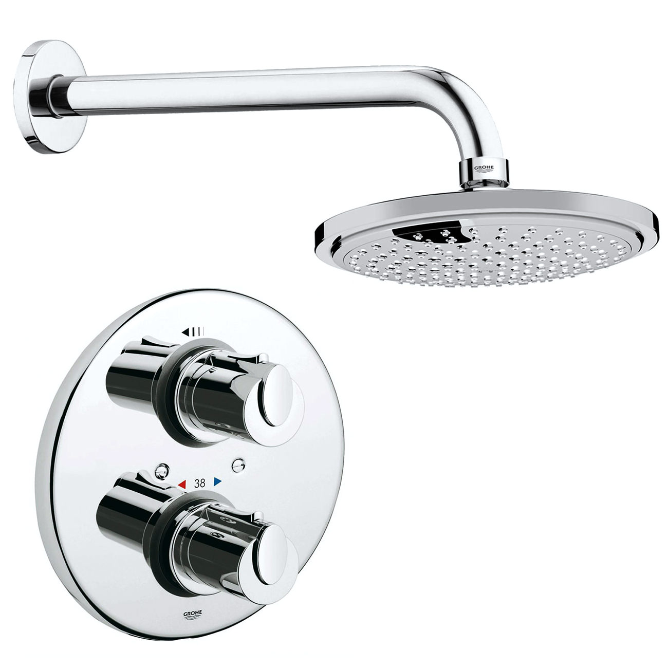 Grohe Grohtherm 1000 Plus Shower Set With Concealed Shower
