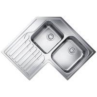 Franke Studio STX 621-E Stainless Steel Corner Inset Sink ...