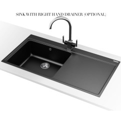 Franco Kitchen Sinks Island With Bar Seating Franke Mythos Mtg 611 Fragranite Onyx 1 Bowl Inset Sink