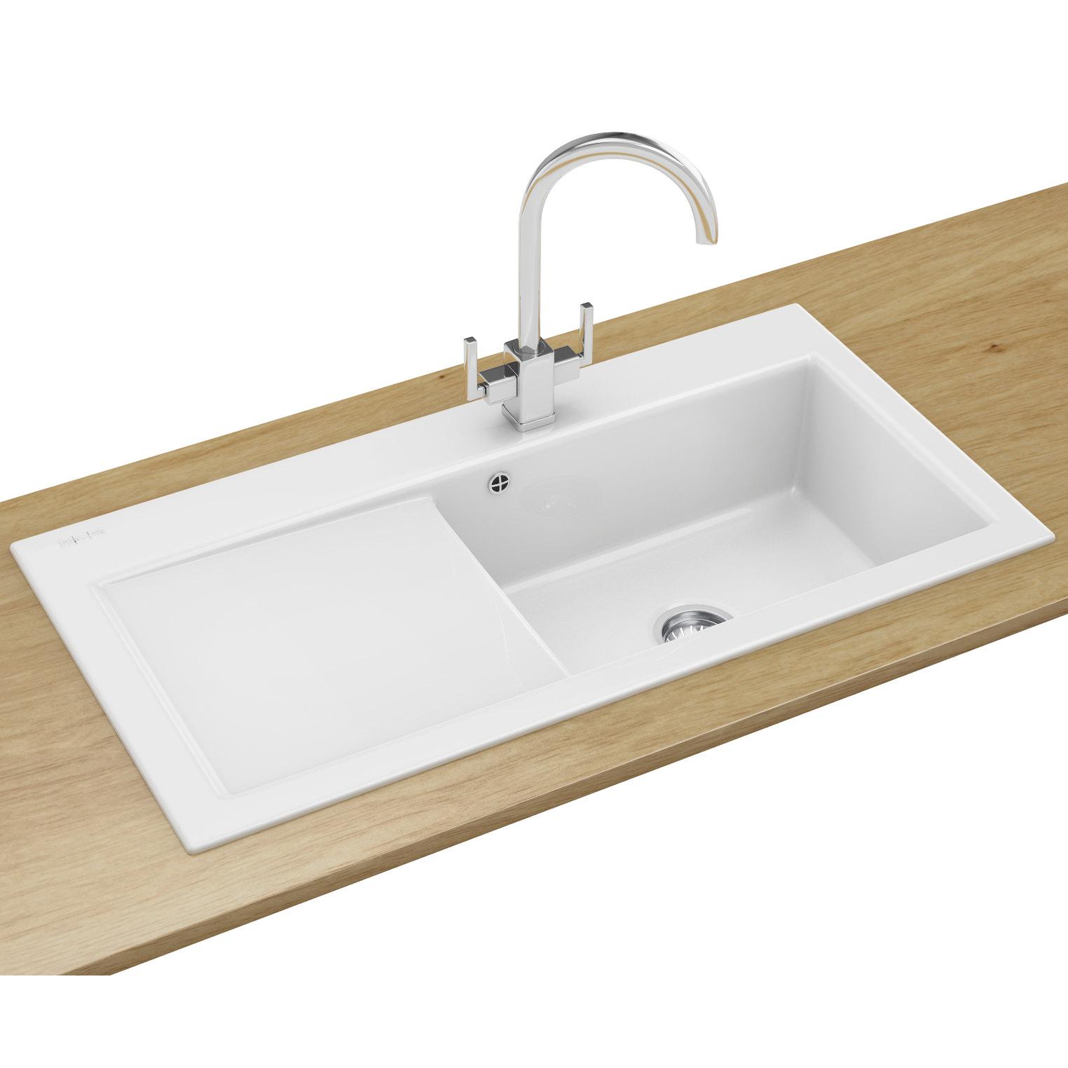franco kitchen sinks table and corner bench franke mythos designer pack mtk 611 ceramic white sink