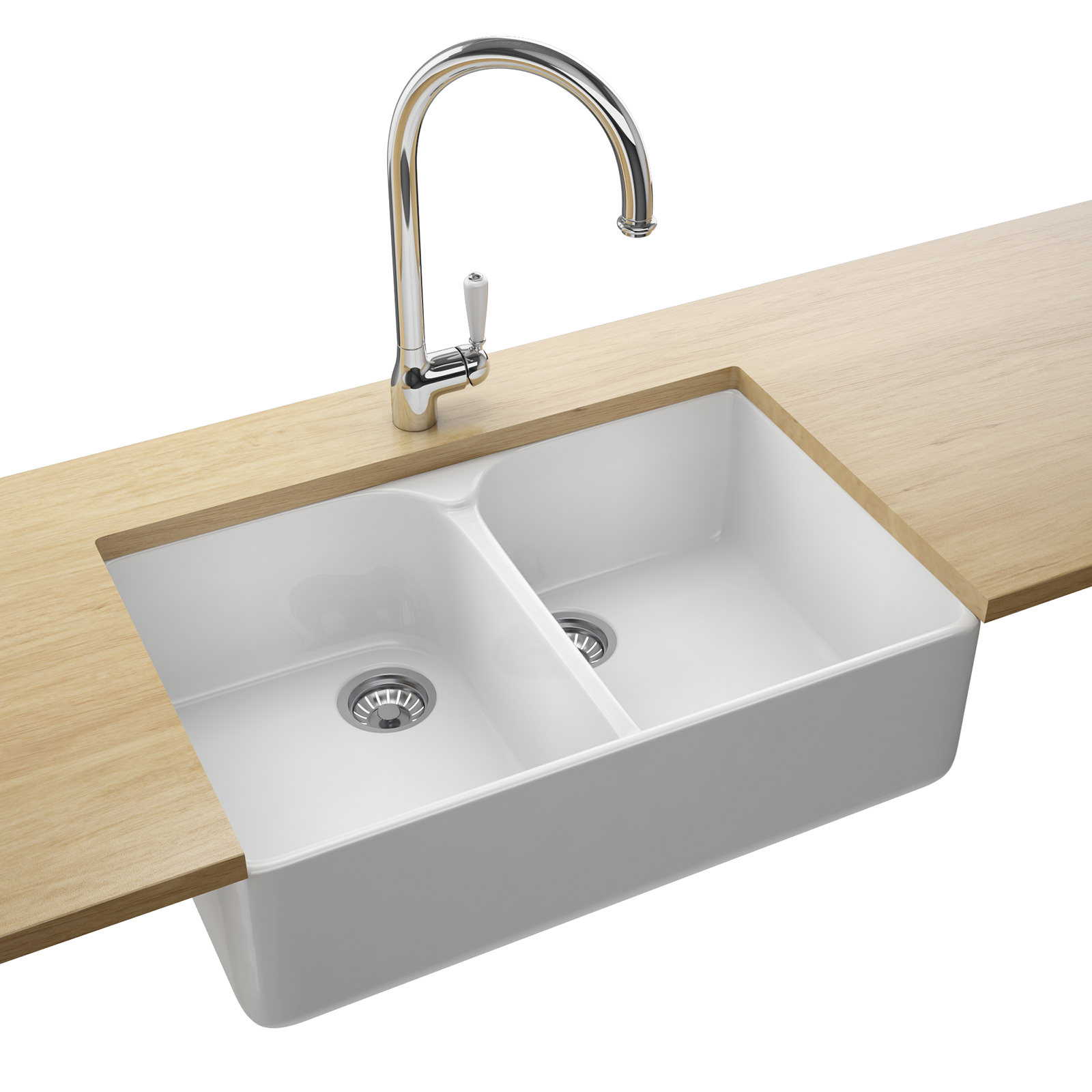 franco kitchen sinks shelf ideas franke belfast vbk 720 ceramic white 2 bowl sink
