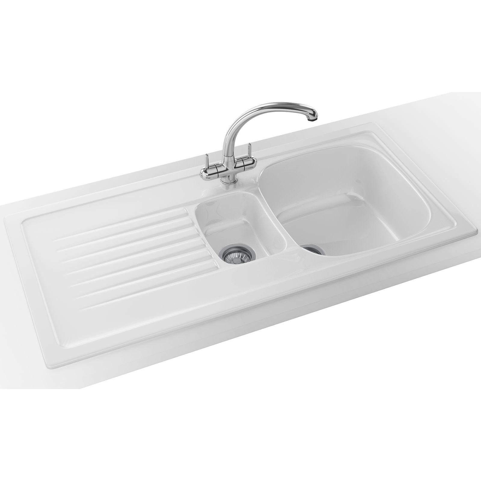 franco kitchen sinks wood top for island franke elba propack elk 651 ceramic white inset sink and